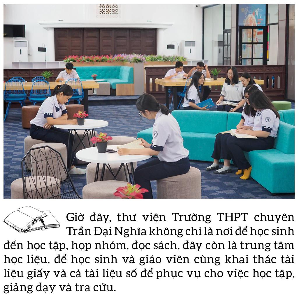 """Đến thăm thư viện """"5 sao"""" Trường THPT chuyên Trần Đại Nghĩa ảnh 4"""