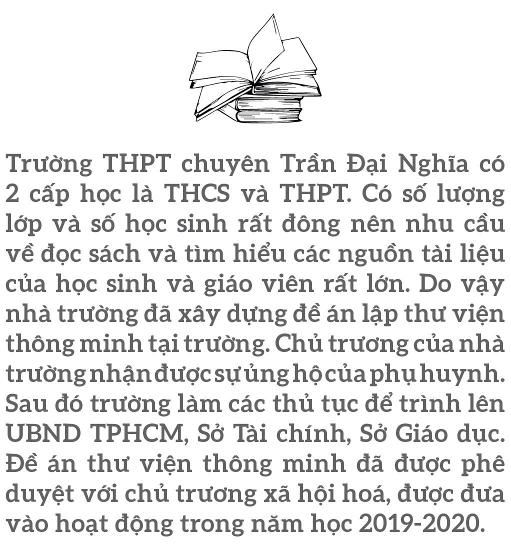 """Đến thăm thư viện """"5 sao"""" Trường THPT chuyên Trần Đại Nghĩa ảnh 1"""