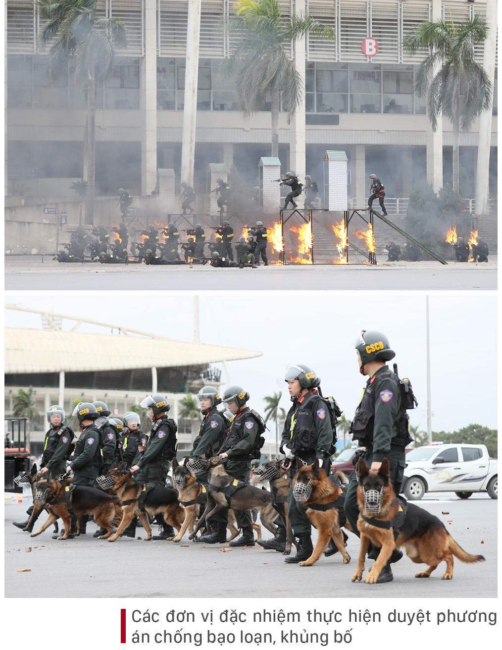 Các lực lượng tổng duyệt phương án bảo vệ Đại hội Đảng lần thứ XIII ảnh 15