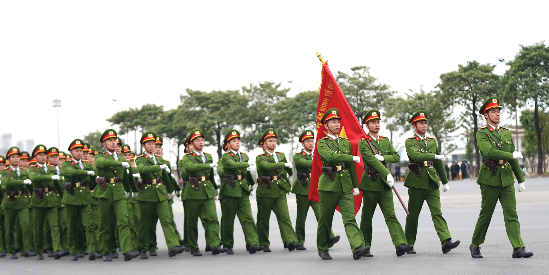 Các lực lượng tổng duyệt phương án bảo vệ Đại hội Đảng lần thứ XIII ảnh 2