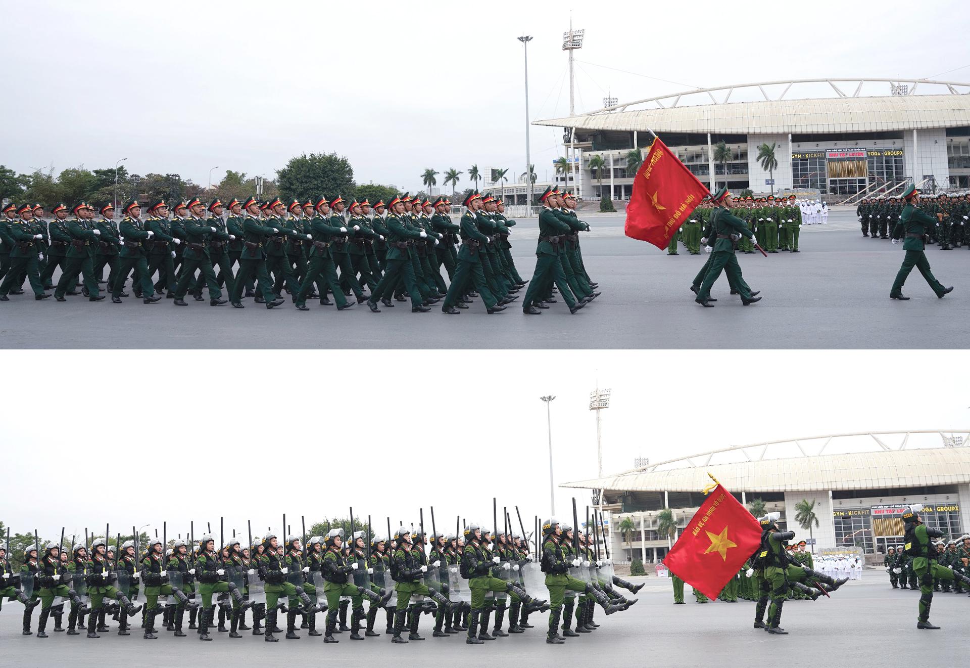 Các lực lượng tổng duyệt phương án bảo vệ Đại hội Đảng lần thứ XIII ảnh 4