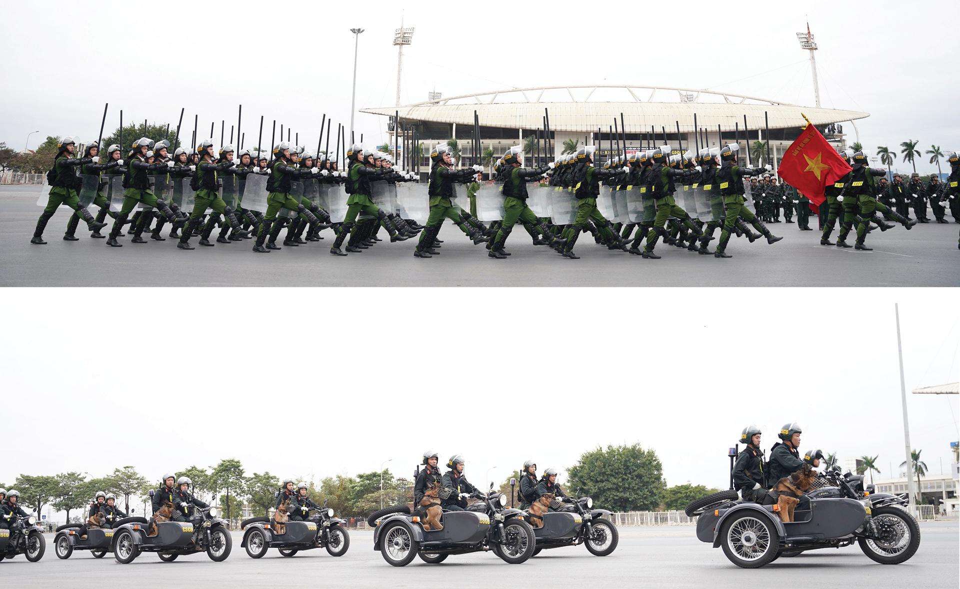 Các lực lượng tổng duyệt phương án bảo vệ Đại hội Đảng lần thứ XIII ảnh 6