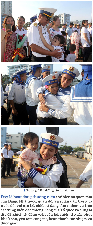 Vùng 2 Hải quân chở mùa xuân ra nhà giàn DK1 ảnh 4