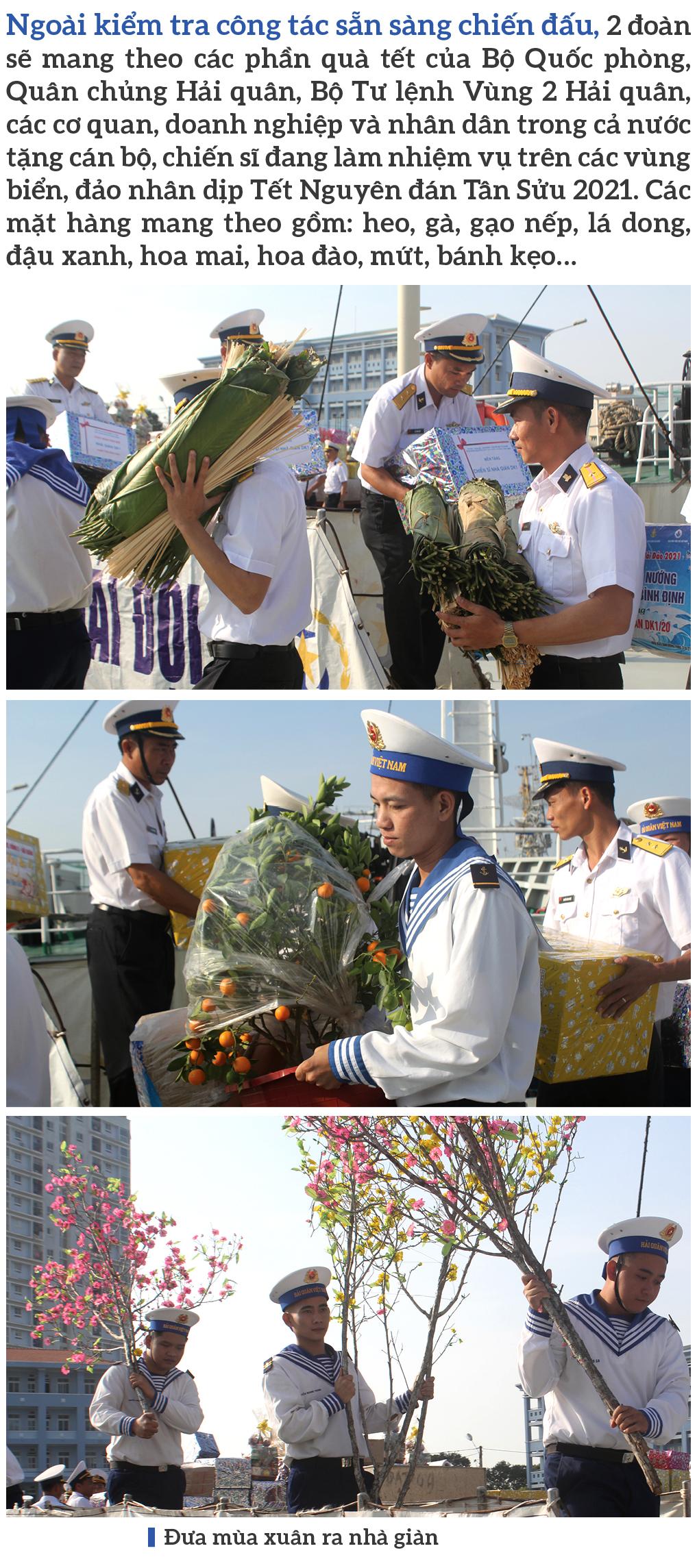 Vùng 2 Hải quân chở mùa xuân ra nhà giàn DK1 ảnh 7