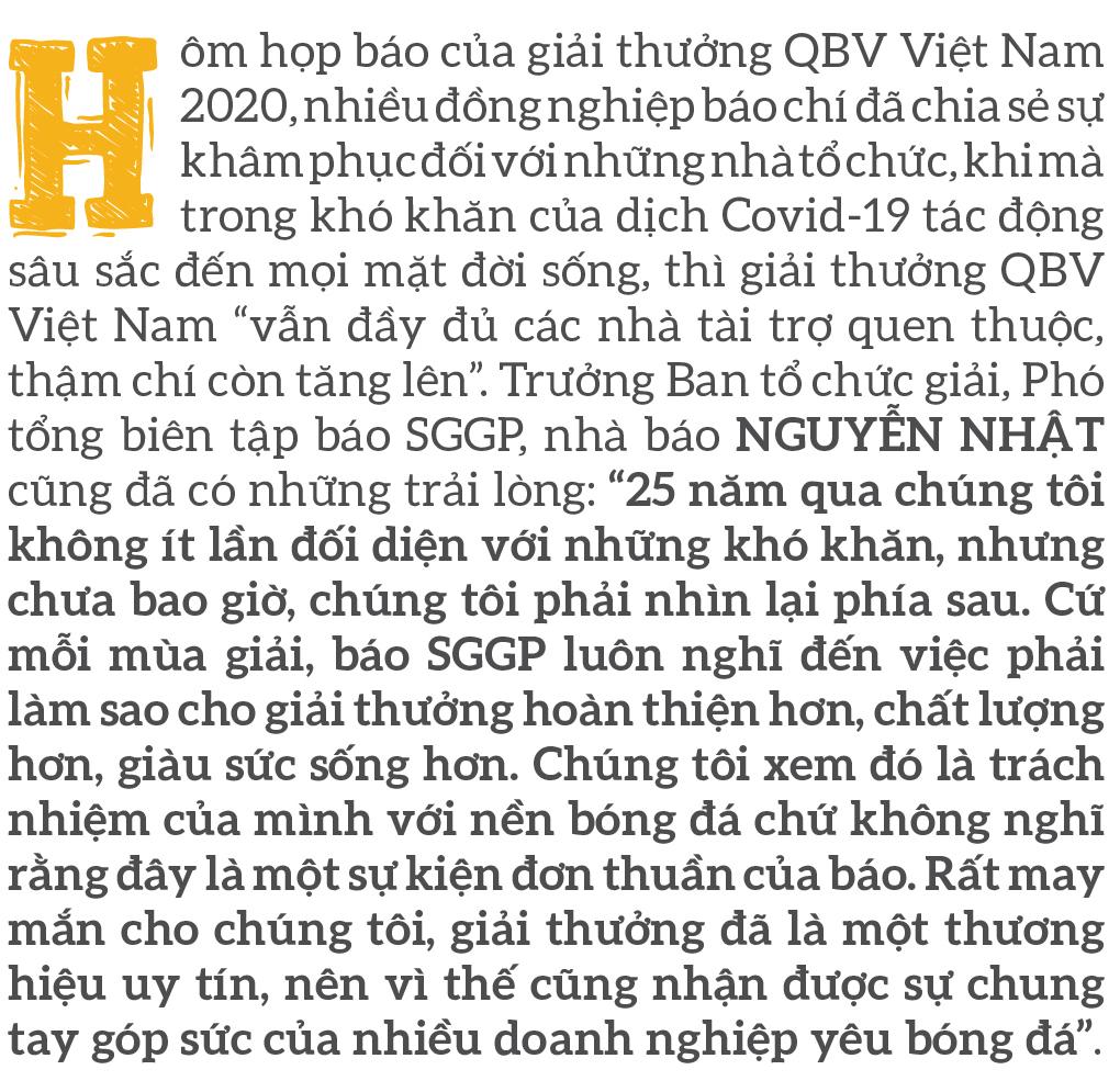 Quả bóng vàng Việt Nam 2020 - Thương hiệu và cảm xúc ảnh 2