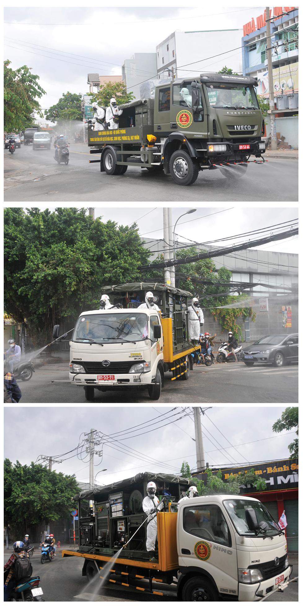 Lực lượng vũ trang ra quân phun khử khuẩn toàn thành phố  ảnh 21