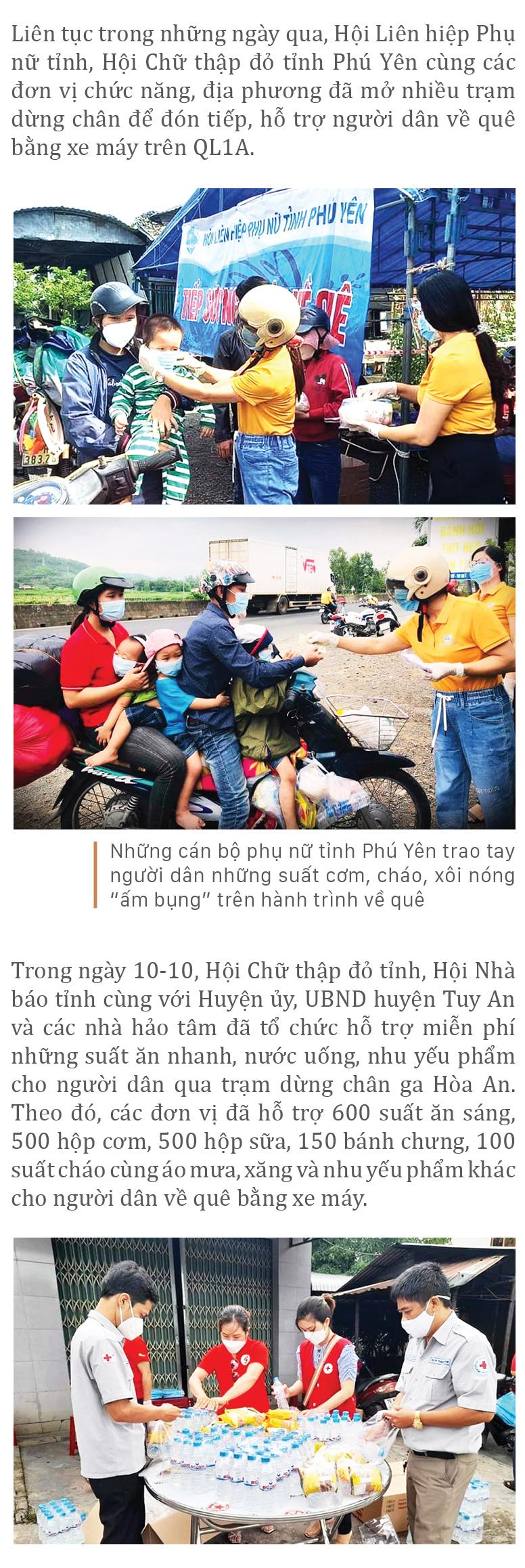 Nồng ấm nghĩa tình miền Trung hỗ trợ dòng người về quê ảnh 41