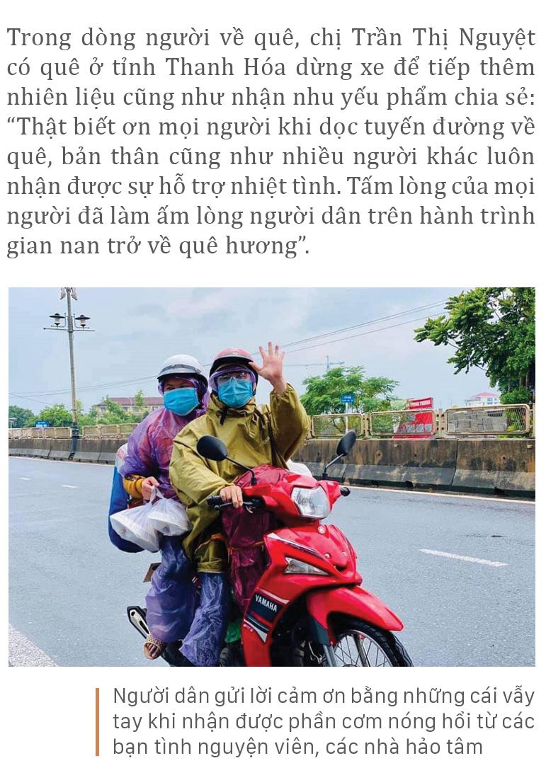 Nồng ấm nghĩa tình miền Trung hỗ trợ dòng người về quê ảnh 7