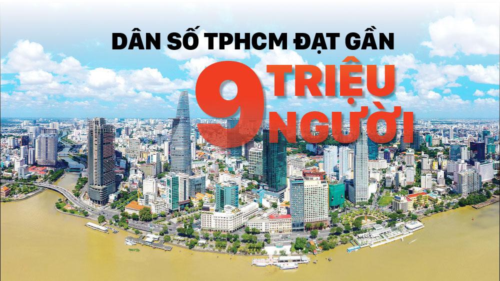 TPHCM đông dân nhất cả nước, gần 9 triệu người
