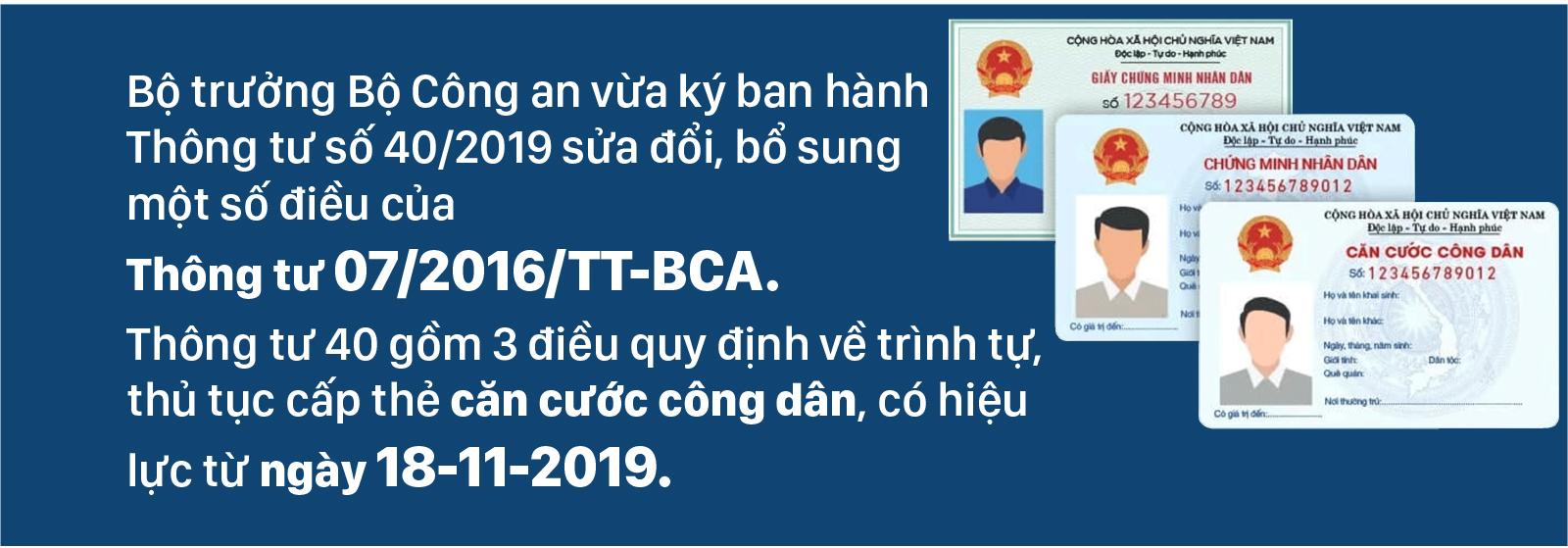 Từ ngày 18-11-2019 thủ tục cấp thẻ căn cước công dân có gì mới? ảnh 1