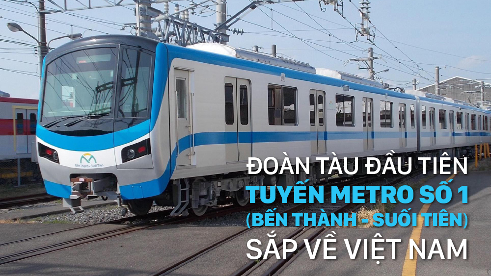 Đoàn tàu đầu tiên tuyến Metro số 1 (Bến Thành - Suối Tiên) sắp về Việt Nam
