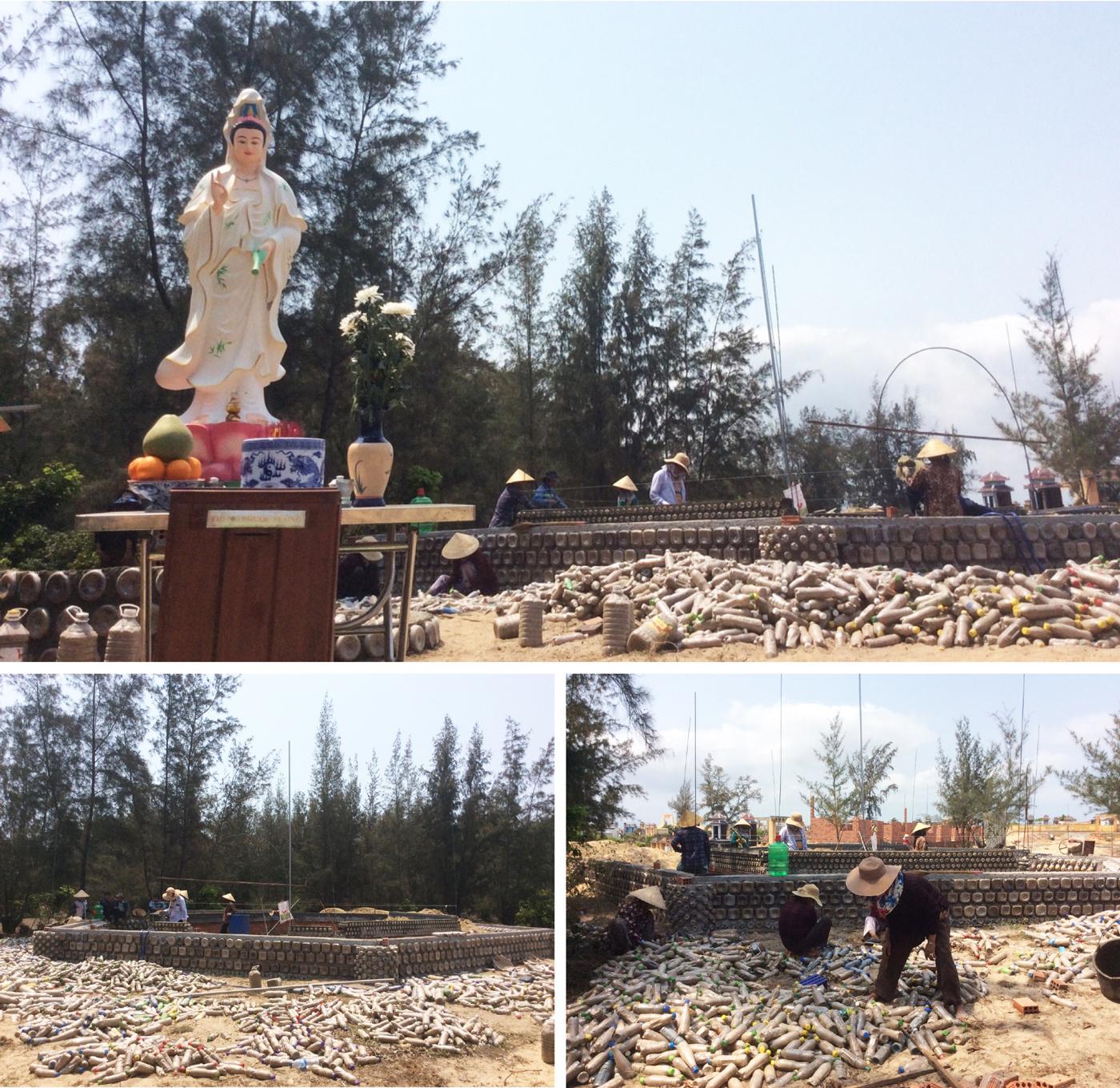 Độc đáo ngôi chùa được xây bằng 60.000 vỏ chai nhựa  ảnh 4