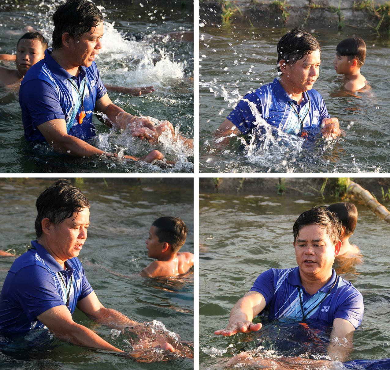 Thầy giáo 'nắn' dòng kênh thủy lợi mở lớp dạy bơi miễn phí ảnh 23