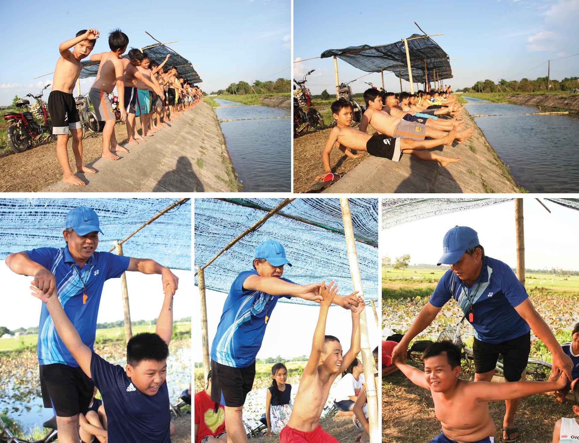 Thầy giáo 'nắn' dòng kênh thủy lợi mở lớp dạy bơi miễn phí ảnh 5