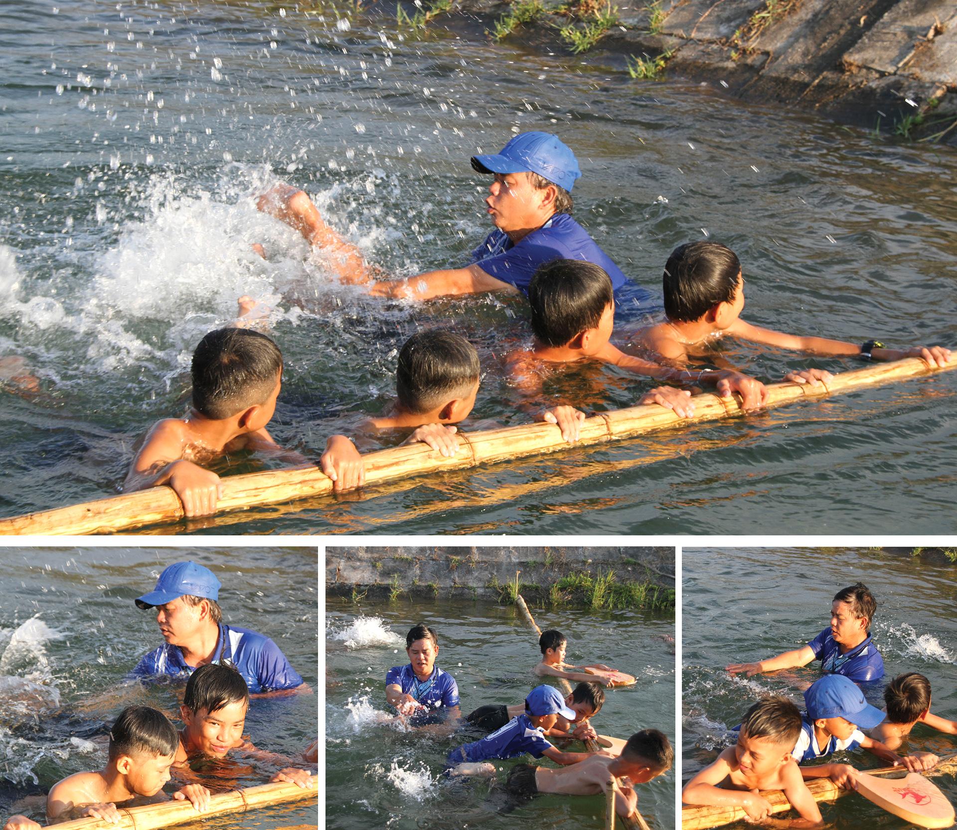 Thầy giáo 'nắn' dòng kênh thủy lợi mở lớp dạy bơi miễn phí ảnh 10