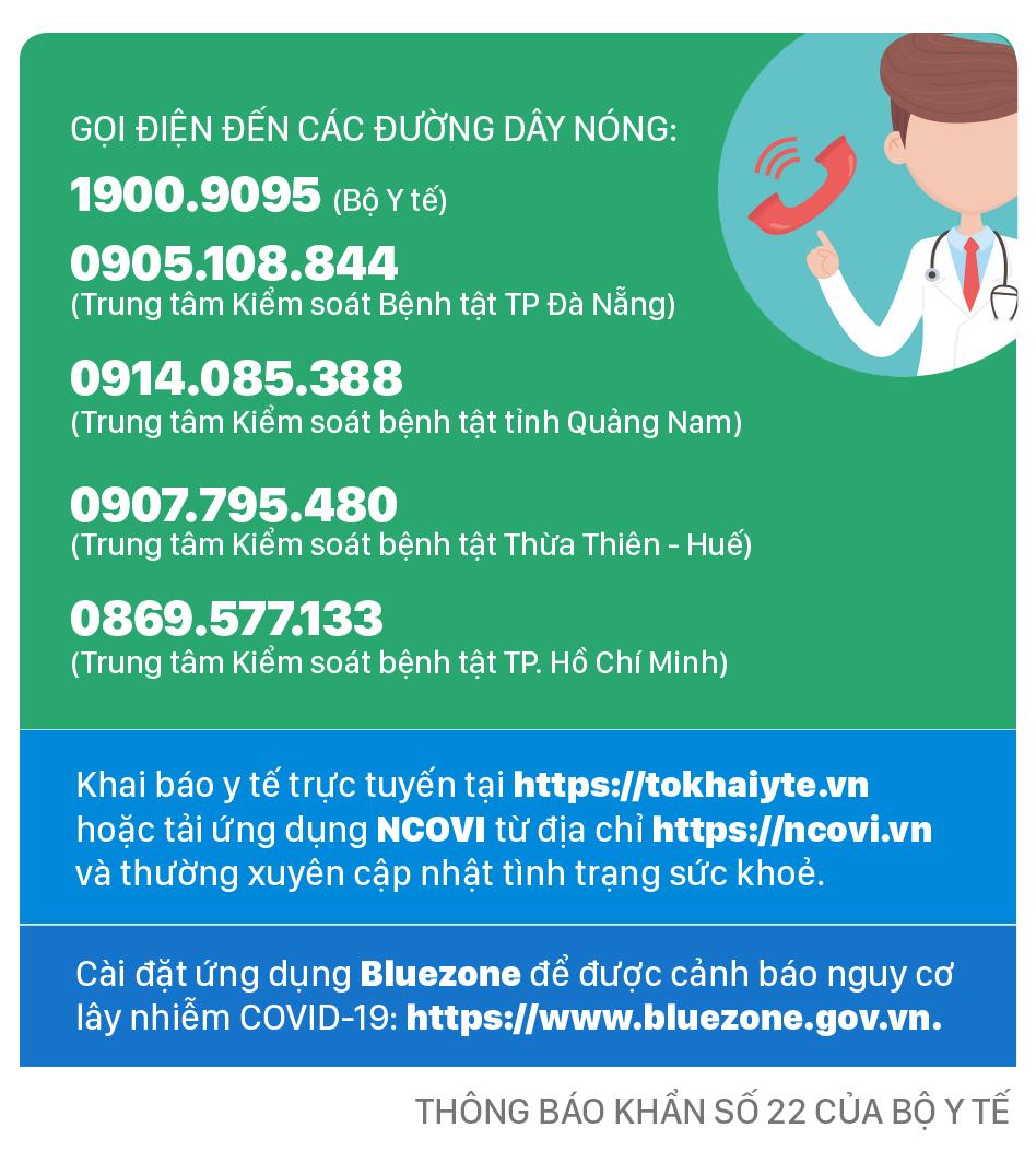 Ai có mặt ở những địa điểm này và 2 chuyến bay từ Đà Nẵng, liên hệ ngay cơ quan y tế ảnh 3