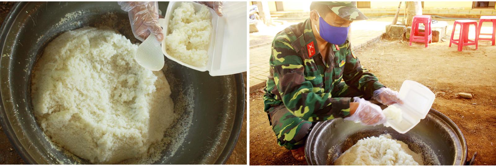 Cảm động Bộ đội nấu cơm cho bệnh viện dã chiến ảnh 22