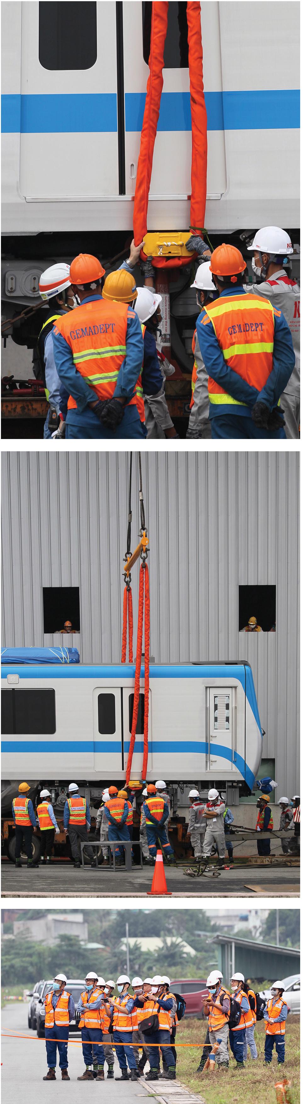 Toàn cảnh hành trình 3 toa tàu metro số 1 về TPHCM ảnh 14