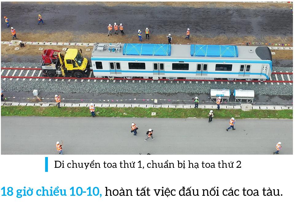 Toàn cảnh hành trình 3 toa tàu metro số 1 về TPHCM ảnh 18