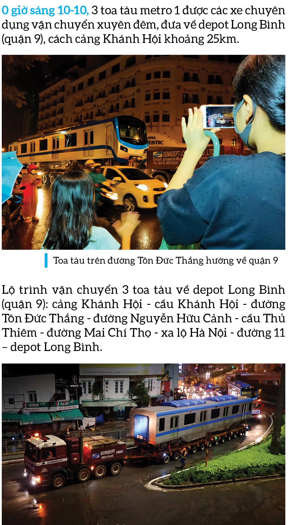 Toàn cảnh hành trình 3 toa tàu metro số 1 về TPHCM ảnh 9