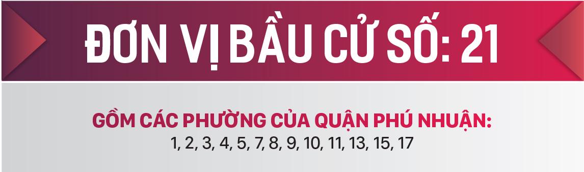 Danh sách chính thức những người ứng cử đại biểu HĐND TPHCM khóa X, nhiệm kỳ 2021 - 2026 - Đơn vị bầu cử số: 21 (quận Phú Nhuận) ảnh 1