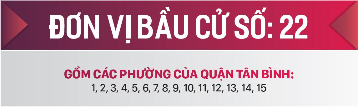 Danh sách chính thức những người ứng cử đại biểu HĐND TPHCM khóa X, nhiệm kỳ 2021 - 2026 - Đơn vị bầu cử số: 22 (quận Tân Bình) ảnh 1