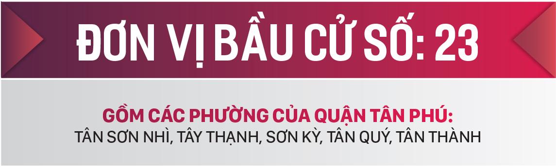 Danh sách chính thức những người ứng cử đại biểu HĐND TPHCM khóa X, nhiệm kỳ 2021 - 2026 - Đơn vị bầu cử số: 23, 24 (quận Tân Phú) ảnh 1
