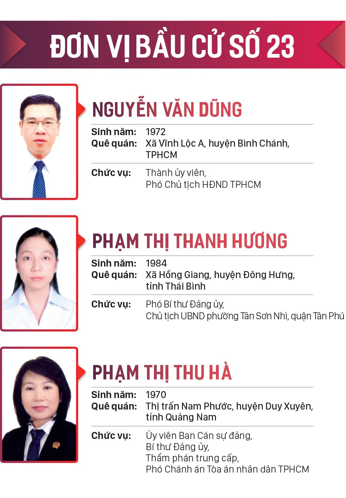 Danh sách những người trúng cử đại biểu HĐND TPHCM khóa X, nhiệm kỳ 2021-2026 ảnh 23