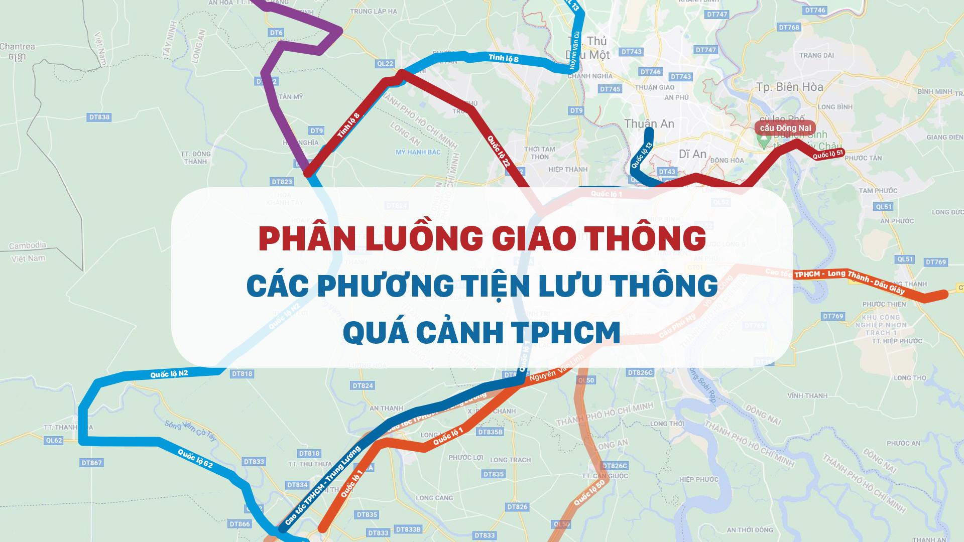 Phân luồng giao thông các phương tiện lưu thông quá cảnh TPHCM