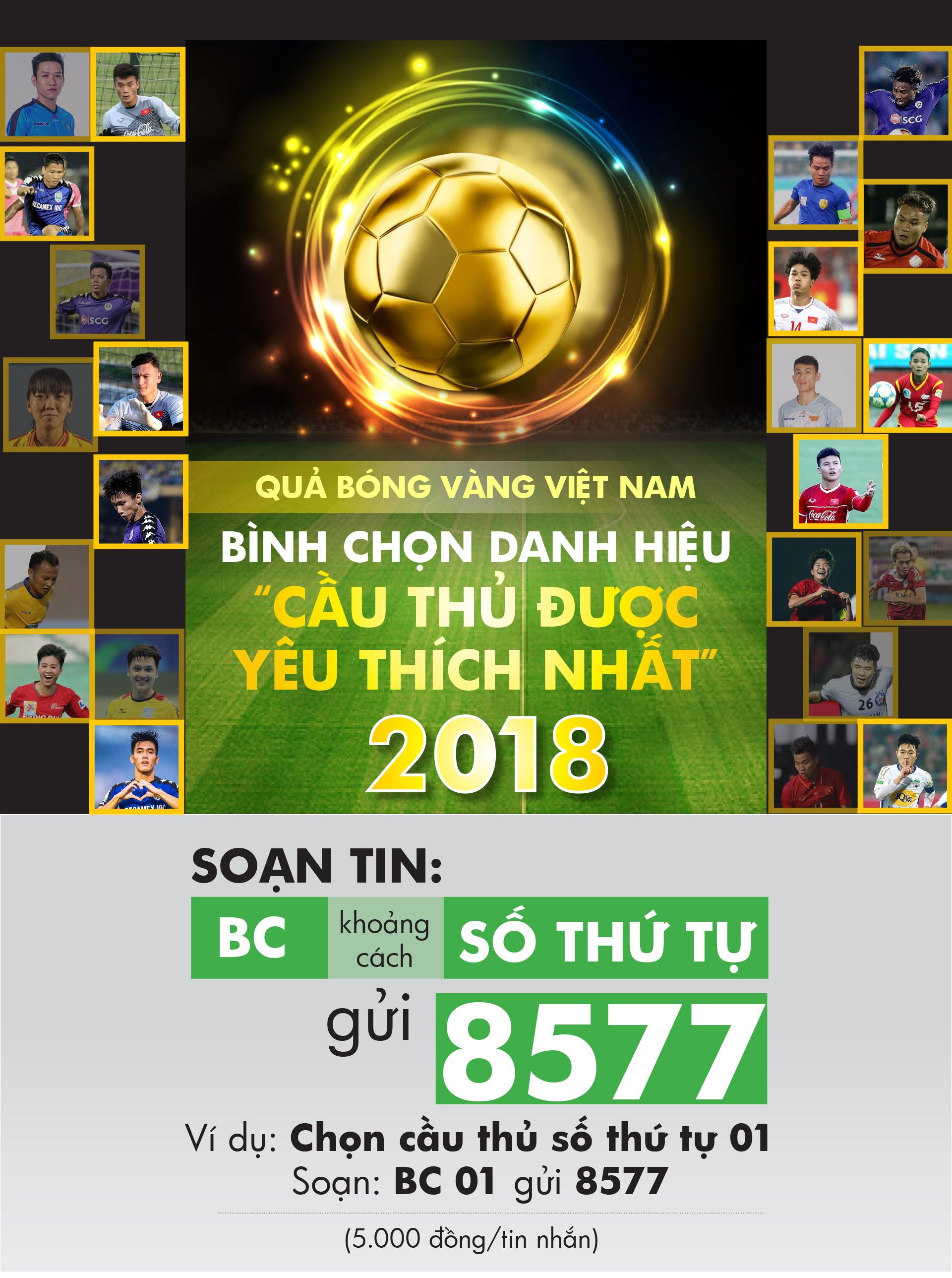 Giải thưởng Cầu thủ được yêu thích nhất năm 2018