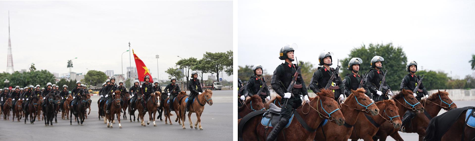 Các lực lượng tổng duyệt phương án bảo vệ Đại hội Đảng lần thứ XIII ảnh 7