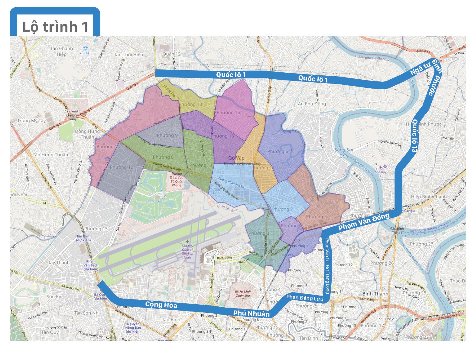 Một số lộ trình lưu thông không qua địa bàn quận Gò Vấp ảnh 2