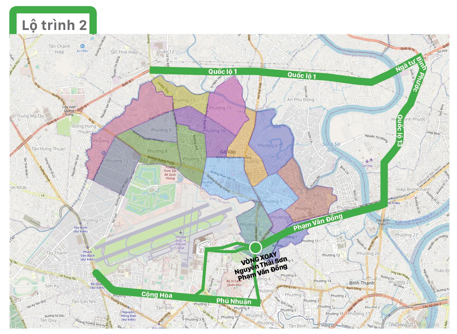Một số lộ trình lưu thông không qua địa bàn quận Gò Vấp ảnh 3