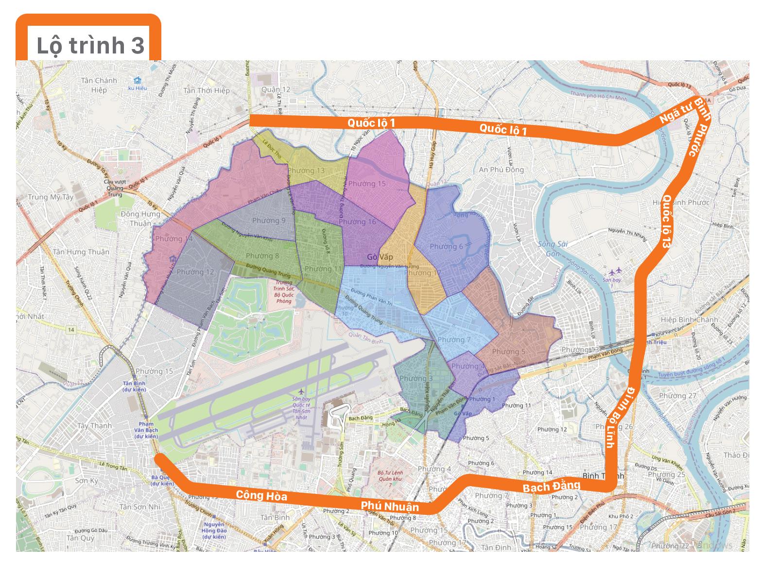 Một số lộ trình lưu thông không qua địa bàn quận Gò Vấp ảnh 4