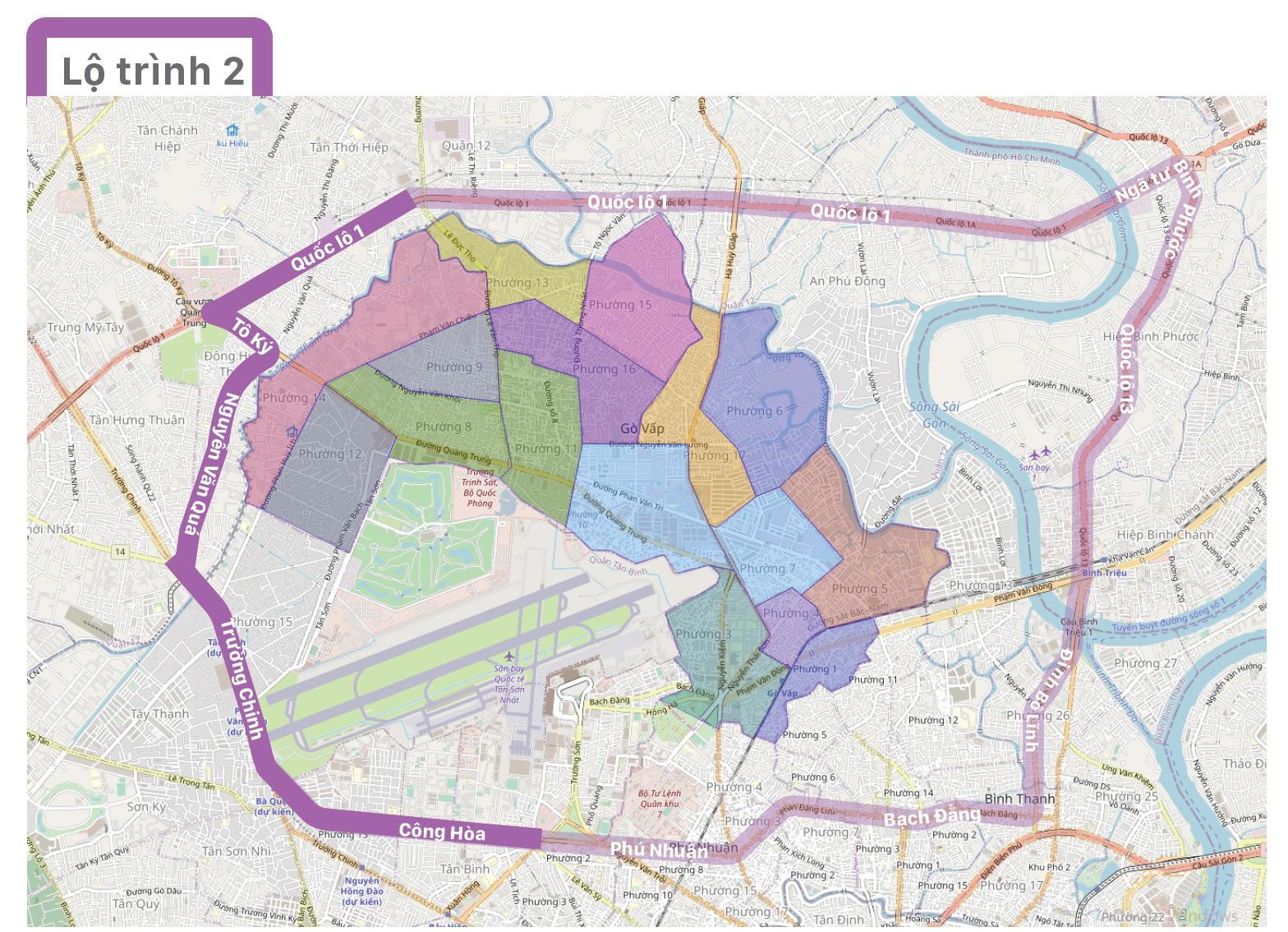 Một số lộ trình lưu thông không qua địa bàn quận Gò Vấp ảnh 7
