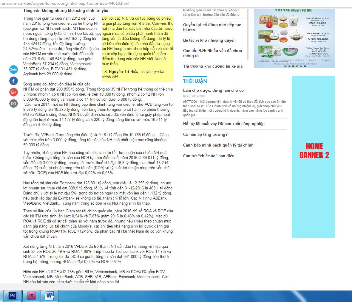 Trang chi tiết báo SGĐT