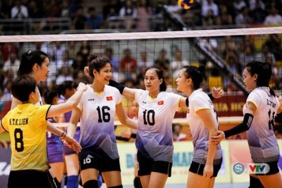 Đội tuyển nữ Việt Nam thi đấu khá hay ở VTV Cup 2018. Ảnh: VTV