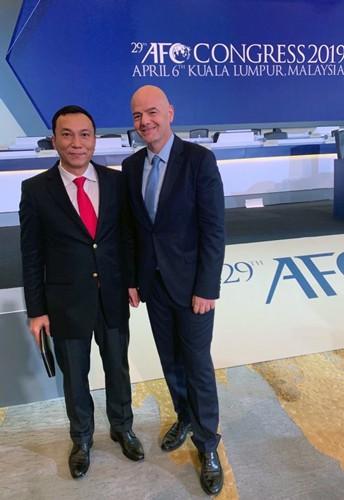 Chủ tịch FIFA gởi thư chúc mừng Phó chủ tịch VFF Trần Quốc Tuấn ảnh 1