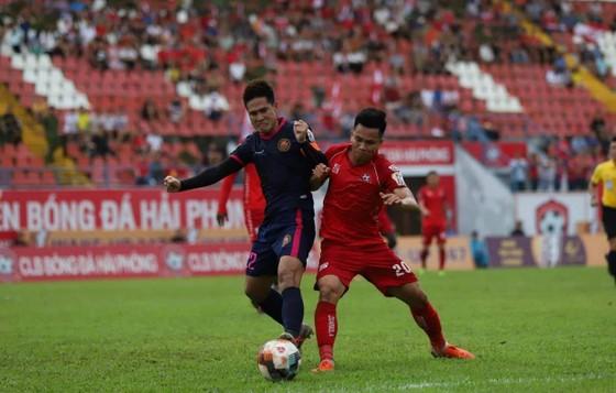 CLB Sài Gòn có chiến thắng bất ngờ trên sân LạchTray. Ảnh: MINH HOÀNG