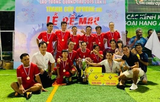 Các nhà tân vô địch Hải Hòa FC. Ảnh: Hữu Thịnh