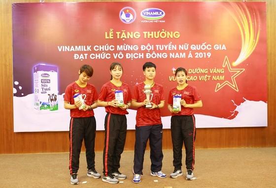 VFF và nhà tài trợ Vinamilk trao thưởng cho đội tuyển nữ Việt Nam ảnh 2
