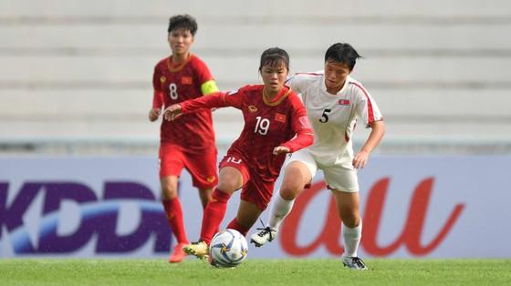 Các cô gái Việt Nam không thể gây bất ngờ trước CHDCND Triều Tiên. Ảnh: AFC