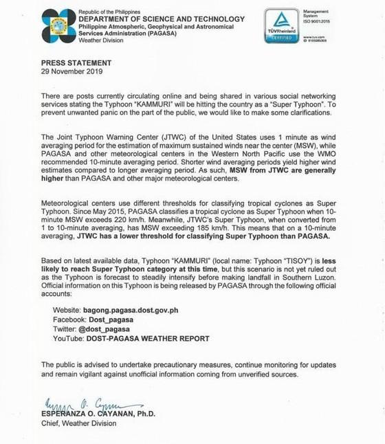 Thể thao Việt Nam đổi lịch bay vì sợ bão Kammuri ảnh 1