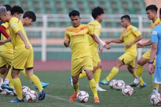 Dụng Quang Nho nói lời chia tay với đội tuyển U23 Việt Nam. Ảnh: DŨNG PHƯƠNG