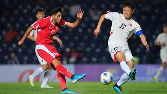 U23 Jordan (trái) chơi tấn công khá quyết liệt.