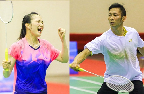 Cặp vợ chồng Vũ Thị Trang và Nguyễn Tiến Minh vẫn nỗ lực tập luyện cho mục tiêu giành vé dự Olympic.
