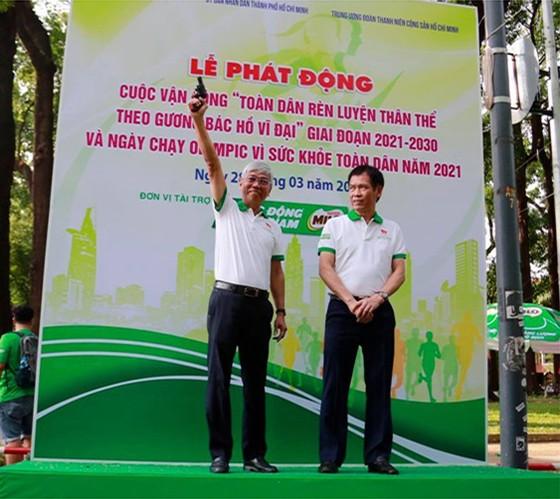 Sôi động Ngày chạy Olympic vì sức khỏe toàn dân năm 2021 ảnh 1
