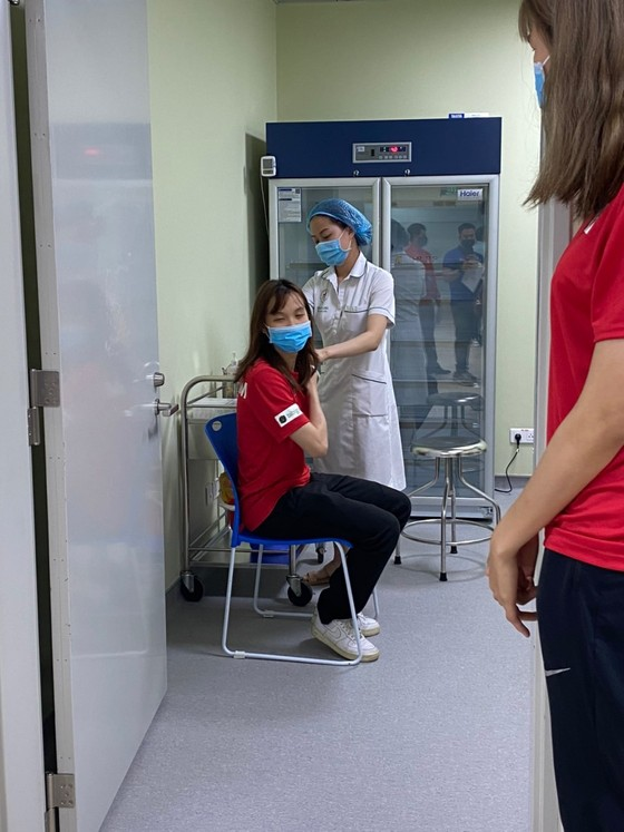 17 thành viên đầu tiên của thể thao Việt Nam được tiêm vaccine Covid-19 ảnh 5