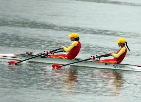Các VĐV rowing tham dự vòng loại Olympic 2020.