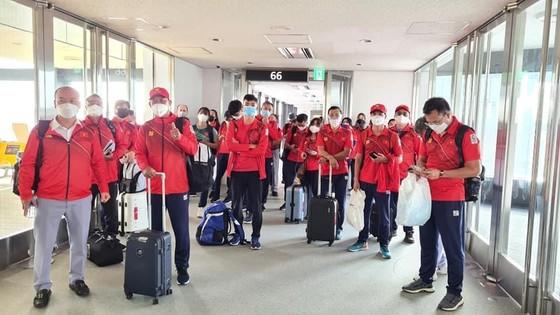 Đoàn thể thao Việt Nam đến Nhật Bản tham dự Olympic. Ảnh: N.ĐÌNH